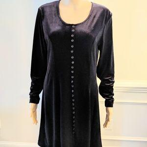 Black Cherry Velvet Dress Size 4 NWOT